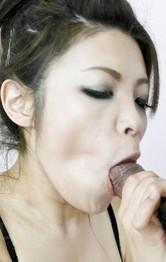 Yurika Gotou Asian enjoys doggy drilling through fishnet outfit
