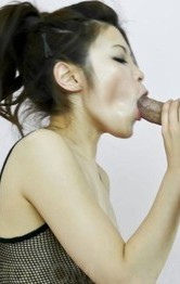Yurika Gotou Asian sucks cock and has vibrator arousing her clit