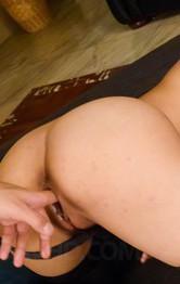 Eririka Katagiri Asian exposes juicy vagina while sucking boner