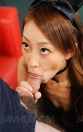 Yuu Kusunoki Asian squirts while getting vibrator on fish taco
