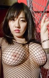 Azusa Nagasawa Asian busty in stockings shows pussy after fucking