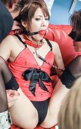 元アイドル麻生めいがボールギャグ拘束されてダルマ責め!全身愛撫責めで喘ぎまくって、玩具責めでイクイクと強制アクメ!