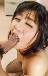 Kyoka Mizusawa is fucked in mouth and through ripped stockings
